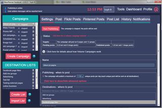 Mass Planner Facebook Platform